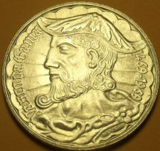 Buy Gem Unc Silver Portugal 1969 50 Escudos~500th Anniv- Birth of Vasco DaGama~Fr/Sh
