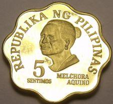 Buy Philippines 1979 5 Sentimos Proof~3,645 Minted~Scalloped~Melchora Aquino~Fr/Shi
