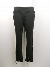 Buy PLUS SIZE 1X Womens Leggings LOYAL THREADS Black Lace Up Skinny Legs Inseam 29