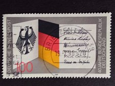 Buy Germany 1 v used stamp 1989 Michel 1421 40 years Federal Republic of Germany