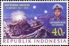 Buy Indonesia 1v Michel 750 mnh stamp Navy Day THEMATIC SHIP