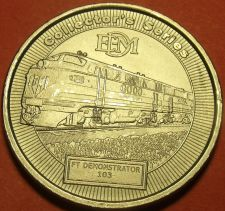 Buy Model Railroader Gem Unc 40mm Dream Plan Build Medallion~FT Demonstrator~Free Sh