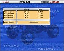 Buy 88-06 Yamaha YFS200 Blaster 200 ATV Service Repair Manual CD - English & French