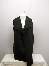 Buy SIZE XL Womens Wrap Sherpa Vest NO BOUNDARIES Solid Black Wide Collar Sleeveless