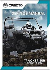 Buy CFMoto U8 Tracker 800 4X4 UTV Service Manual on a CD -- CF800-3 CF800
