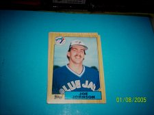 Buy 1987 Topps Traded Baseball CARD OF JOE JOHNSON BLUE JAYS #T56 MINT