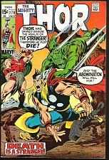 Buy THOR #178 Abomination, STRANGER, Sif, Odin, by John Buscema Marvel Comics VF-