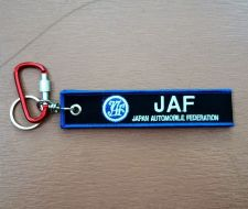 Buy 1 Embroidered Fabric Strap JAF Keychain Keyring Key Holder Tag Motorcycle