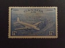 Buy Canada Air Mail Stamp 1947 The designs feature a DC-4 Trans-Atlantic Mail Plane