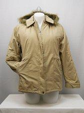 Buy Womens Parka SIZE L TUDOR COURT Beige Faux Fur Removable Hood Lined