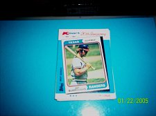 Buy JEFF BURROUGHS RANGERS 1982 TOPPS KMART 20TH ANNIVERSARY #25 OF 44