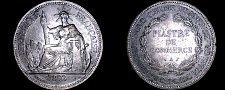 Buy 1893-A French Indo-China 1 Piastre World Silver Coin - Vietnam