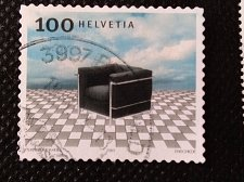 "Buy Switzerland 1V USED STAMP 2003 Seat ""Le Fauteuil Grand Confort"" (1928) designed"