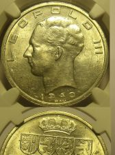 Buy Belgium 1940 50 Francs Position A~NGC Certified UNC~Free Shipping