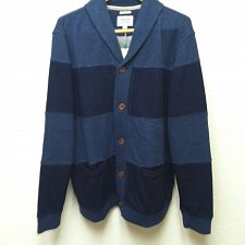 Buy Lucky Brand Men`s Grey Label Knitwear Sweater Stripe Cardigan New With Tags