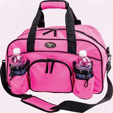"Buy Womans Ladies 18"" Sport Duffle Gym Bag Pink Tote Carry On Overnight Yoga Workout"