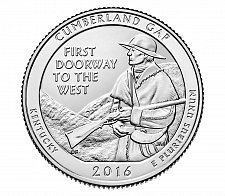 Buy 2016-S CUMBERLAND GAP NATIONAL PARK QUARTER - UNCIRCULATED - From Mint roll