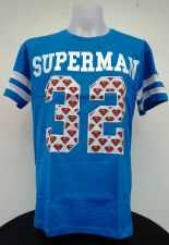 Buy Superman 32 Blue Cotton T-Shirt Super Hero Dccomics,Warner Bros free shipping