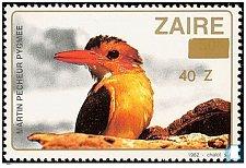 Buy Congo (Kinshasa) (Zaïre) MNH Stamp Thematic Bird 1990 40Z on 50k Overpronted The
