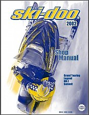 Buy 2002 Ski-Doo Grand Touring Legend MX Z Summit Service Manual on a CD