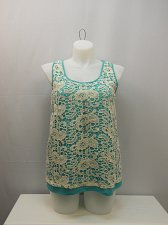 Buy Womens Cami Tank Top SIZE XL FRENCH LAUNDRY Jade Crochet Lace Overlay Sleeveless