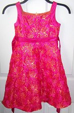 Buy Rare Editions Spring Time Sleeveless Dress Pink Lace 3D Circles Design Size 6