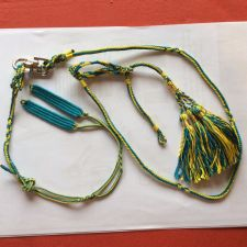 Buy Falconry Arabic Anklet, swivel and leash set Large (Blue & yellow)