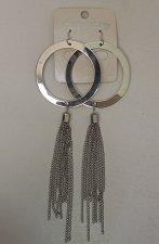 Buy Women Fashion Earrings Drop Dangle Silver Tones Metal Circles Chains LIN LI Hook