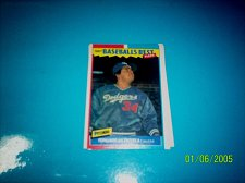 Buy 1987 Fleer Baseballs Best Sluggers Vs Pitchers FARNANDO VALENZUEL #43