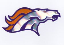 Buy DENVER BRONCOS NFL LICENSE TEAM LOGO FOOTBALL INDOOR DECAL STICKER 3D