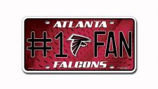 Buy Atlanta Falcons NFL #1 Fan License Plates