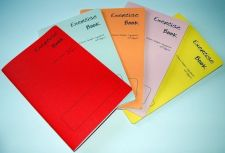 Buy 5 x A5 - 20mm squared Exercise Practice books - assorted coloured cover 40 pages
