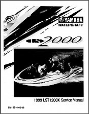 Buy Yamaha LS2000 Jet Boat Service Manual on a CD