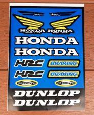 "Buy Racing Team Honda stickers sticker Vinyl sheet pack kit 9"" X 12"" Blue"