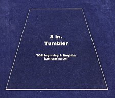 """Buy Quilt Templates-Tumbler 8"""" - Actual Size - 1/8"""" Clear Acrylic -"""