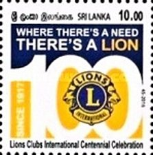 Buy SRI LANKA 1Value MNH Stamp 2016, Lions Clubs International Thematic