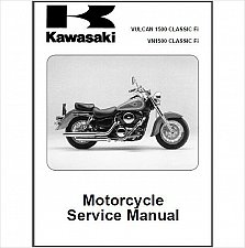 Buy 2000-2008 Kawasaki Vulcan 1500 / VN1500 Classic Fi Service Manual on a CD