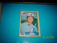 Buy 1987 Topps Traded Baseball CARD OF NEAL HEATON EXPOS #T45 MINT
