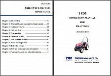 Buy TYM T290 T300 T330 2810 Tractor Repair Service & Owner's Manual CD T 290 300 330