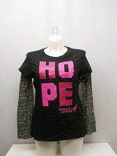 Buy Womens T-Shirt SIZE XL SUSAN G KOMEN Black Hope Breast Cancer Awareness
