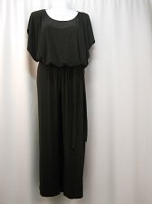 Buy Women Jumpsuit PLUS SIZE 3X Solid Black Batwings Sleeves Wide Legs Back Zipper