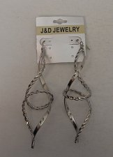 Buy Women Braided Twist Earrings Fashion Drop Dangle Silver Tones Hook J&D JEWELRY