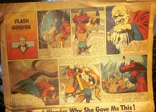 Buy Sunday Newspaper Comics FLASH GORDON Oct. 6, 1946 Raboy, Don Moore