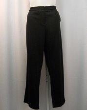 Buy PLUS SIZE 24W Womens Dress Pants CHARTER CLUB Black Modern Fit Straight Legs
