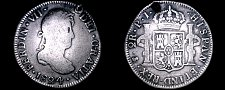 Buy 1824-PTS PJ Bolivia 2 Reales World Silver Coin - Ferdinand VII - Holed