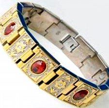Buy ELECTRIFIED FEEL BETTER EJWJ-122A Titanium Bracelet Neodymium Magnets & Garnet