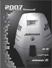 Buy Johnson 25 HP 4-Stroke Outboard Motors Service Manual on a CD