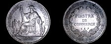 Buy 1906-A French Indo-China 1 Piastre World Silver Coin - Vietnam