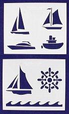 Buy Boat Stencils-2 Piece Set -Mylar 14 Mil Painting/CraftsTemplate