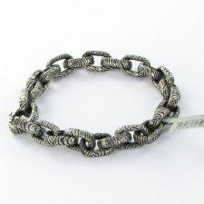 "Buy David Yurman Mens Ironwood 8.5"" Bracelet 9mm Oval Link Sterling Silver NWT $950"